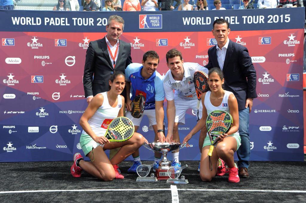 Foto de las parejas ganadoras del Estrella Damm Barcelona Master 2015. World Padel Tour