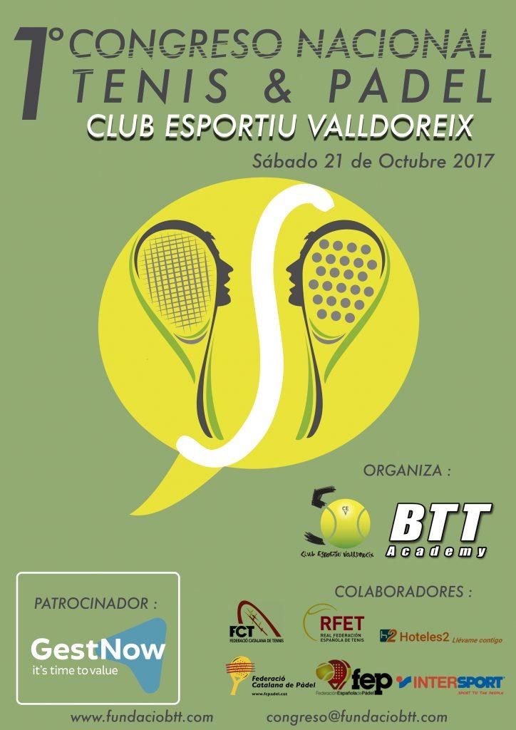 Poster primer congreso nacional de tenis padel