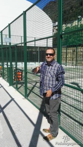 Con Carles Prat de Padel 2.0 visitando las instalaciones de pádel de Caldea Inuu