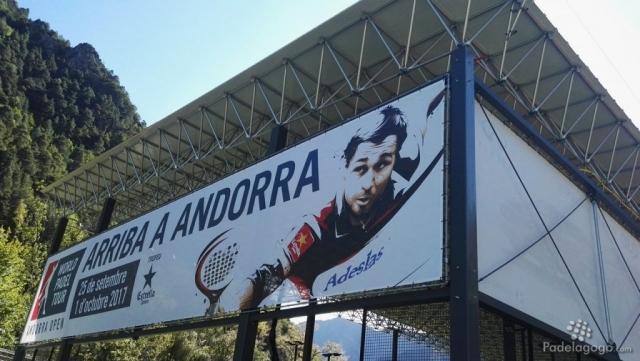 Detalle del cartel principal del World Padel Tour Andorra Open