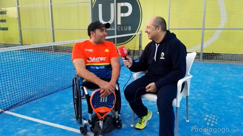 Entrevista al jugador de padel Oscar Agea en el Up Padel