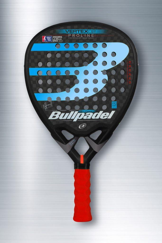 Nueva Bullpadel Vertex 02 WPT Andorra con grip Hesacore