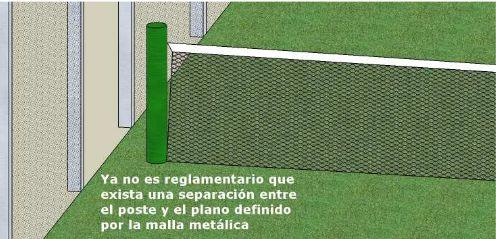 Detalle de la malla de la red de padel