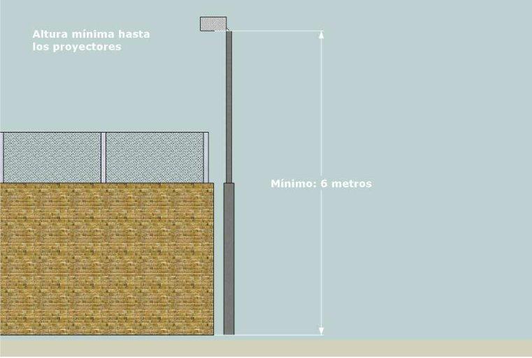 Especificaciones sobre la iluminación reglamentaria de pistas de padel