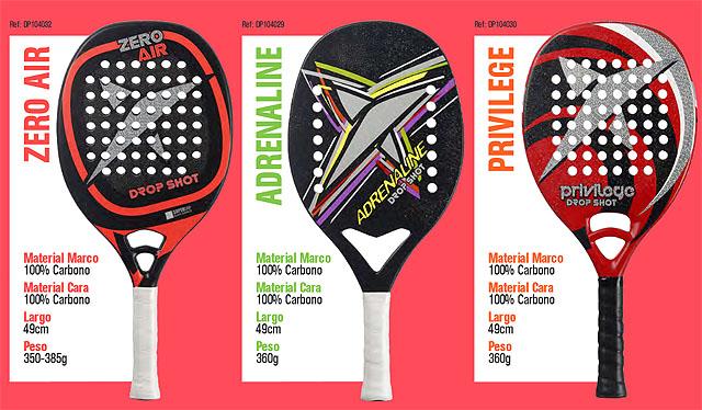 Colección de palas de becah tenis de Drop Shot