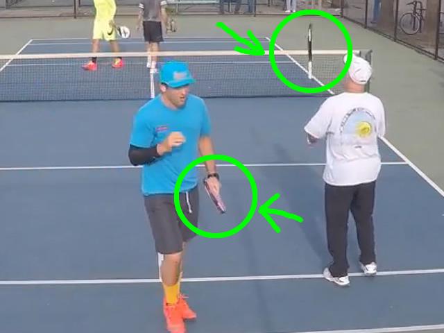 Detalle de las palas de pop tenis