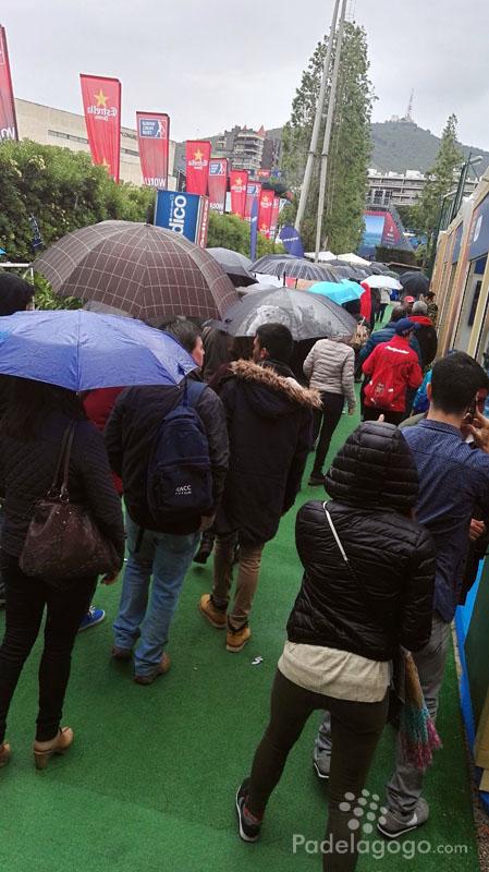 Público wpt barcelona master y la lluvia