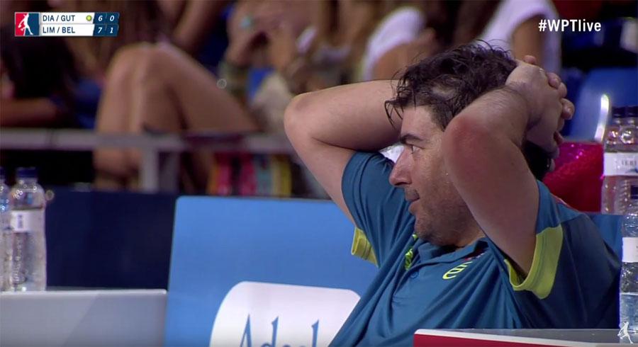 Lesión de Cristian Gutierrez en el WPT Mallorca Open 2016