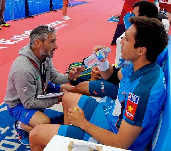 Situación de fondo de pista por Miguel Sciorilli, entrenador de Fernando Bela y Pablo Lima