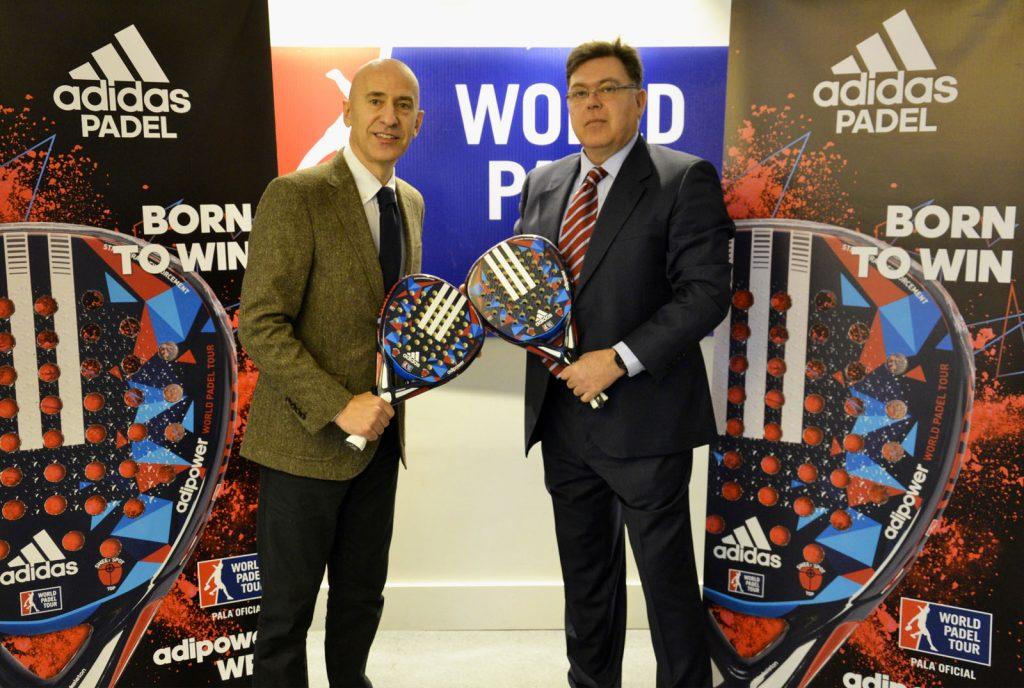 Acuerdo Adidas y World Padel Tour para la pala oficial. Jose Luis Sicre y Mario Hernando