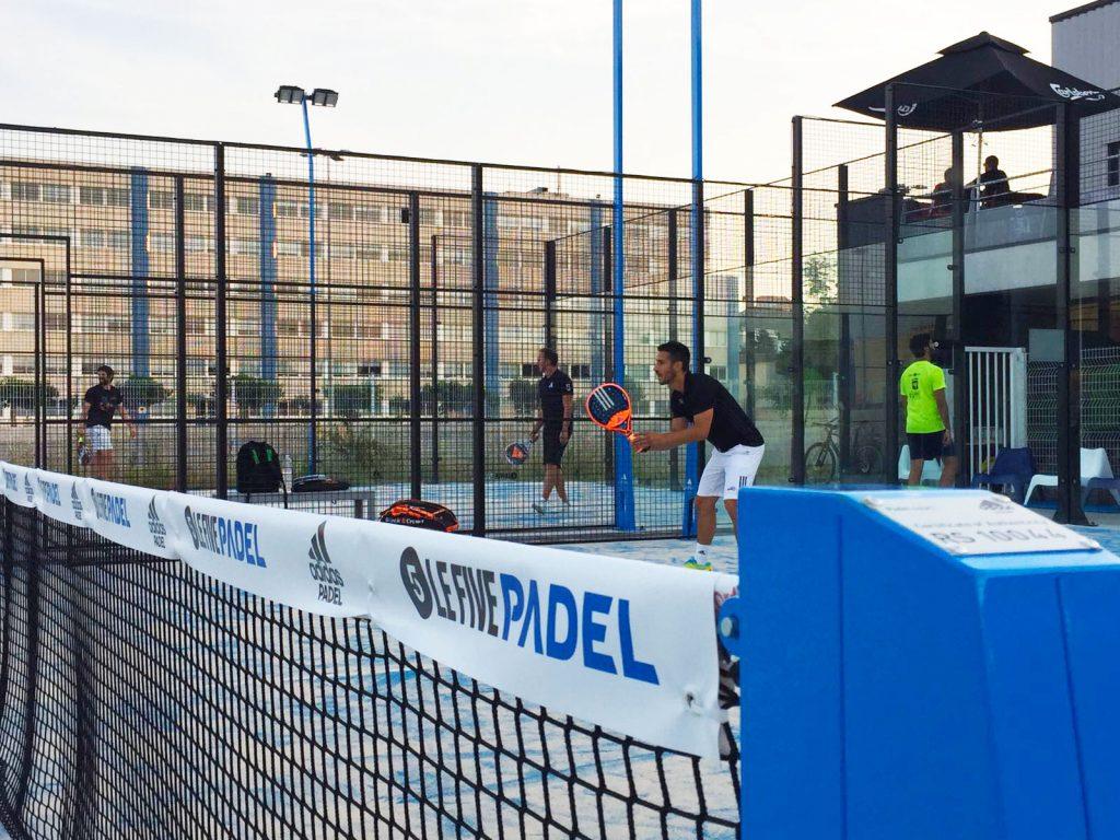 Inauguración pistas pádel adidas para Soccer Five le Park en Francia
