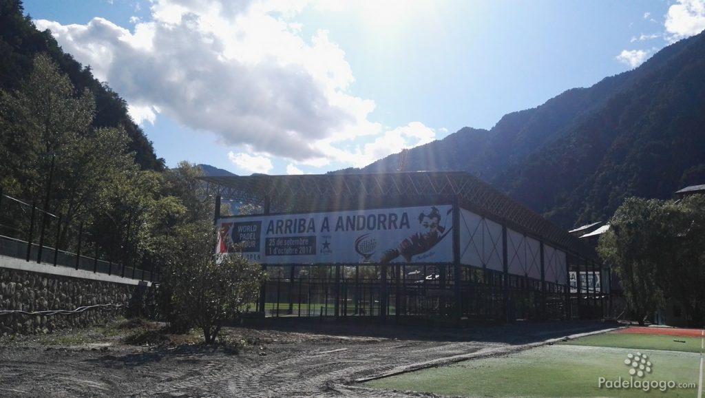 Pistas de pádel en Principadel donde se disputa el World Padel Tour Andorra Open