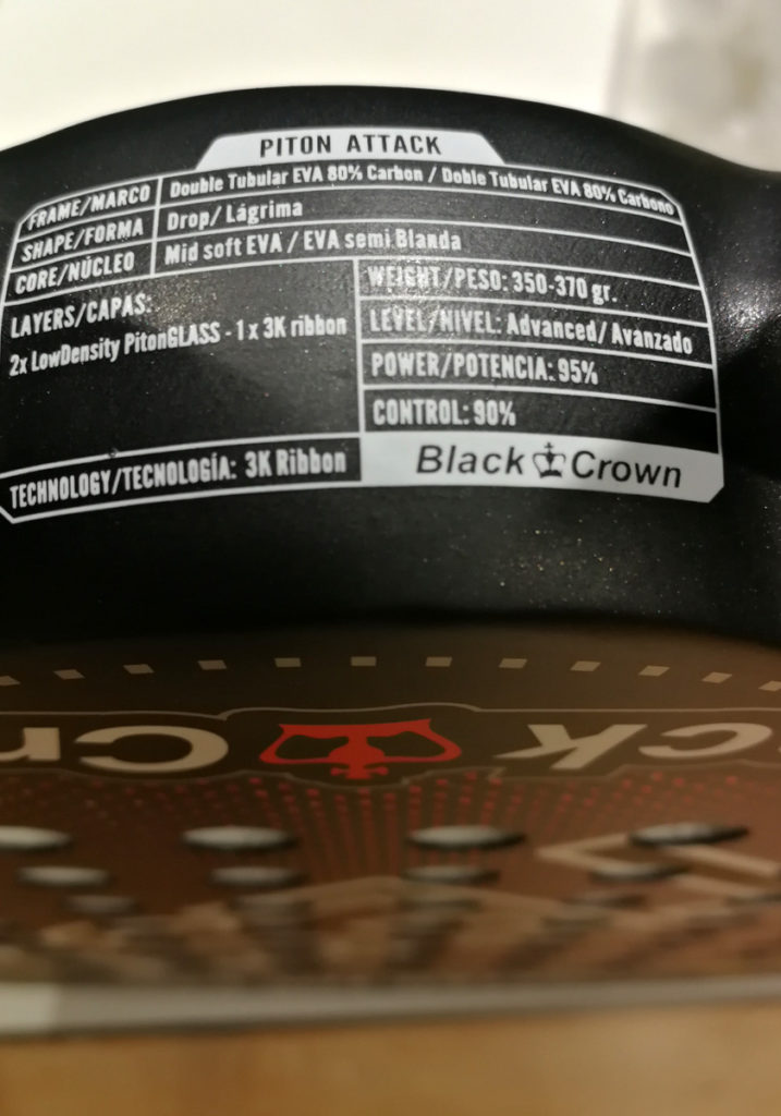 Especificaciones de la Black Crown Piton Attack 3K