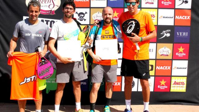 Fran del super-depor campeon del 29 torneo de padel Relats Solidari disputado en CE Valldoreix
